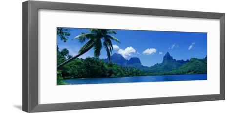 Lush Foliage and Rock Formations, Moorea Island, Tahiti--Framed Art Print