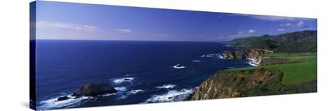 Pacific Coast, Big Sur, California, USA--Stretched Canvas Print