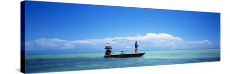Small Boat Tarpon Fishing, Islamorada, Florida, USA--Stretched Canvas Print