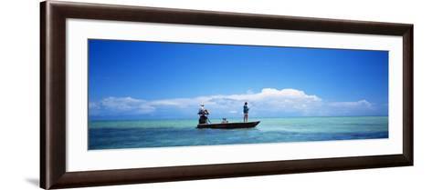 Small Boat Tarpon Fishing, Islamorada, Florida, USA--Framed Art Print