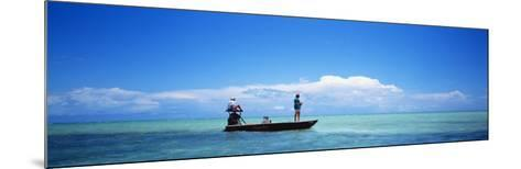 Small Boat Tarpon Fishing, Islamorada, Florida, USA--Mounted Photographic Print
