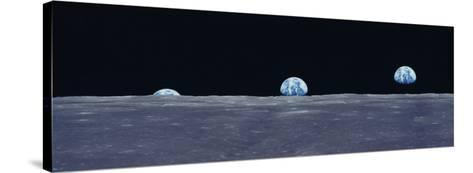 Earth Viewed from the Moon--Stretched Canvas Print