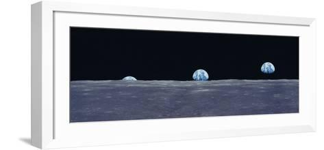 Earth Viewed from the Moon--Framed Art Print