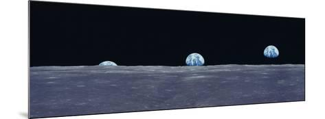 Earth Viewed from the Moon--Mounted Photographic Print