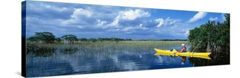 Kayaker in Everglades National Park, Florida, USA--Stretched Canvas Print