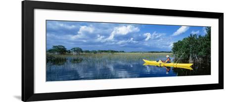 Kayaker in Everglades National Park, Florida, USA--Framed Art Print
