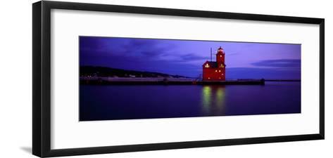 Big Red Lighthouse, Holland, Michigan, USA--Framed Art Print