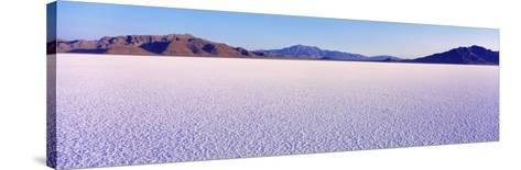 Bonneville Salt Flats, Utah, USA--Stretched Canvas Print