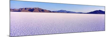 Bonneville Salt Flats, Utah, USA--Mounted Photographic Print