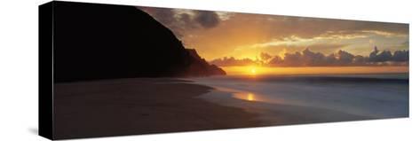 Kalalau Beach, Hawaii, USA--Stretched Canvas Print