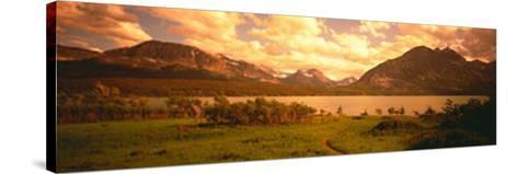 Saint Mary Lake, Montana, USA--Stretched Canvas Print