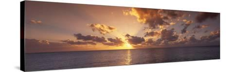 Sunset, Seven Mile Beach, Cayman Islands, Caribbean Sea--Stretched Canvas Print