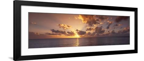 Sunset, Seven Mile Beach, Cayman Islands, Caribbean Sea--Framed Art Print