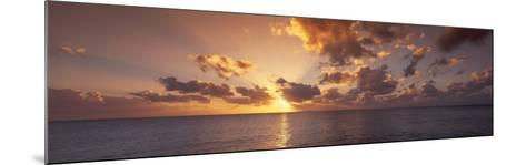 Sunset, Seven Mile Beach, Cayman Islands, Caribbean Sea--Mounted Photographic Print