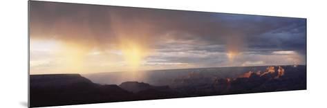 Storm Cloud Over a Landscape, Grand Canyon National Park, Arizona, USA--Mounted Photographic Print