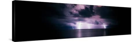 Lightning Bolts Over Gulf Coast, Florida, USA--Stretched Canvas Print