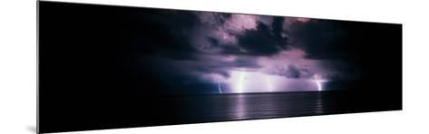 Lightning Bolts Over Gulf Coast, Florida, USA--Mounted Photographic Print