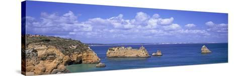 Panoramic View of a Coastline, Southern Portugal, Algarve Region, Lagos, Portugal--Stretched Canvas Print