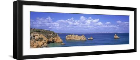 Panoramic View of a Coastline, Southern Portugal, Algarve Region, Lagos, Portugal--Framed Art Print