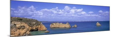 Panoramic View of a Coastline, Southern Portugal, Algarve Region, Lagos, Portugal--Mounted Photographic Print