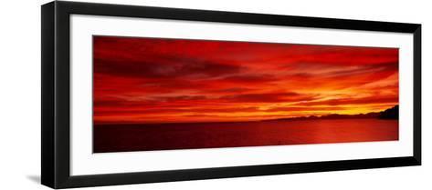 Sunrise, Water, Mulege, Baja, California, Mexico, United States--Framed Art Print