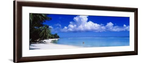 Ocean, Water, Clouds, Relaxing, Matira Beach, Tahiti, French Polynesia, South Pacific, Island--Framed Art Print