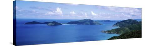 Water, Ocean, Panoramic View of an Island, Tortola, British Virgin Islands--Stretched Canvas Print