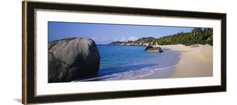 Boulders on the Beach, the Baths, Virgin Gorda, British Virgin Islands--Framed Art Print