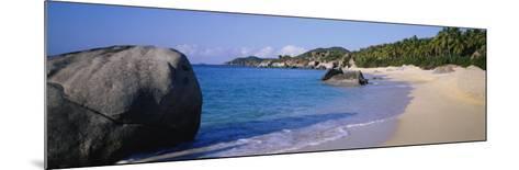 Boulders on the Beach, the Baths, Virgin Gorda, British Virgin Islands--Mounted Photographic Print
