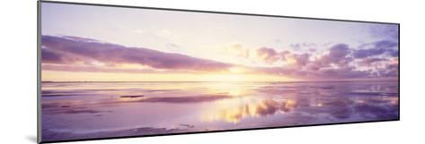 Sunrise on Beach, North Sea, Germany--Mounted Photographic Print