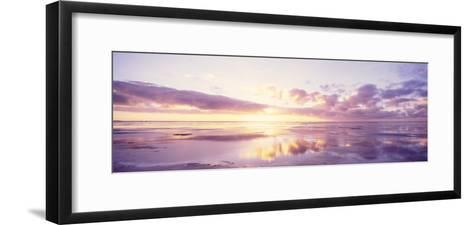 Sunrise on Beach, North Sea, Germany--Framed Art Print