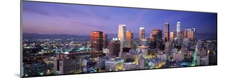 Night, Skyline, Cityscape, Los Angeles, California, USA--Mounted Photographic Print