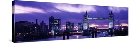 Tower Bridge, Landmark, London, England, United Kingdom--Stretched Canvas Print