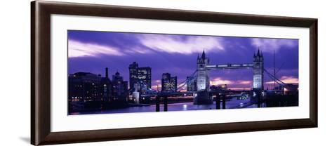 Tower Bridge, Landmark, London, England, United Kingdom--Framed Art Print