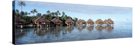 Lagoon Resort, Island, Water, Beach, Bora Bora, French Polynesia--Stretched Canvas Print