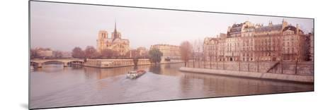 Buildings Near Seine River, Notre Dame, Paris, France--Mounted Photographic Print