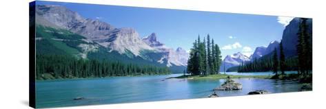 Maligne Lake Near Jasper, Alberta, Canada--Stretched Canvas Print