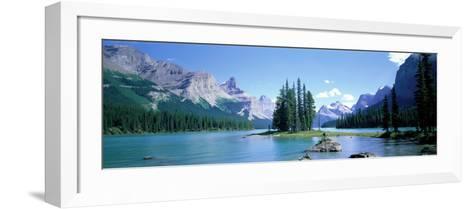 Maligne Lake Near Jasper, Alberta, Canada--Framed Art Print