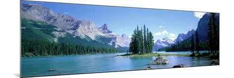 Maligne Lake Near Jasper, Alberta, Canada--Mounted Photographic Print