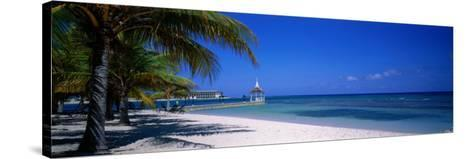 Beach at Half Moon Hotel, Montego Bay, Jamaica--Stretched Canvas Print