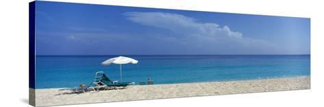 Beach Scene, Nassau, Bahamas--Stretched Canvas Print