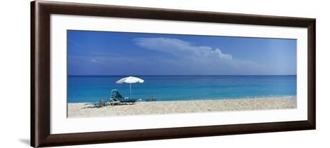 Beach Scene, Nassau, Bahamas--Framed Art Print
