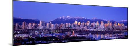 Twilight, Vancouver Skyline, British Columbia, Canada--Mounted Photographic Print