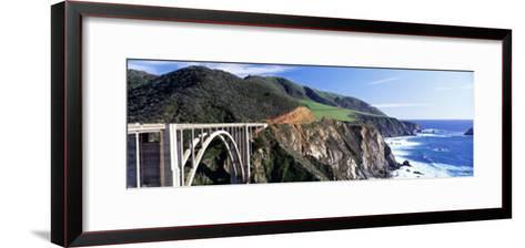 Bixby Creek Bridge, Big Sur, California, USA--Framed Art Print