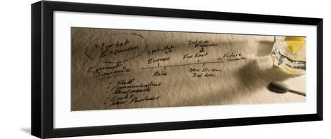 Notes from Business Meeting, Glass on Paper--Framed Art Print