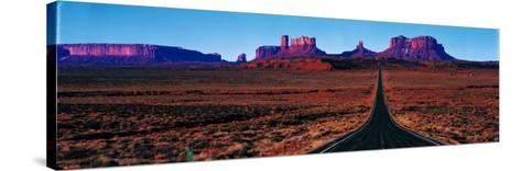 Route 163, Monument Valley, Tribal Park, Utah, USA--Stretched Canvas Print