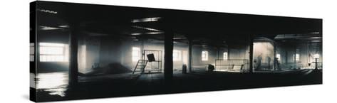 Factory Interior--Stretched Canvas Print