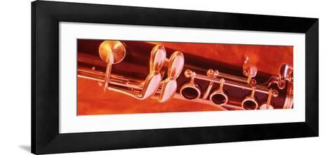 Colored Lights, Close-up of a Clarinet--Framed Art Print