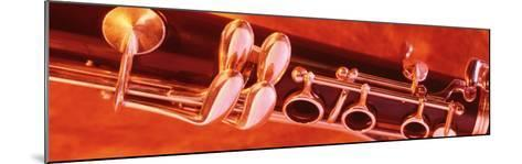 Colored Lights, Close-up of a Clarinet--Mounted Photographic Print