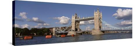 Bridge Over a River, Tower Bridge, Thames River, London, England, United Kingdom--Stretched Canvas Print